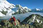 Mount Cook Ball Pass hiking and trekking
